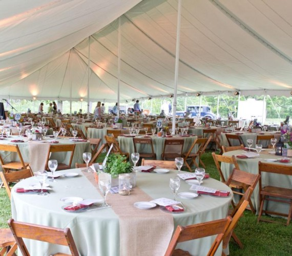 Tables & Tents Setting